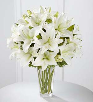 FTD Spirited Grace Lily Bouquet in Hollister CA, Barone's Westlakes Balloons and Gifts