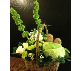 St. Patty's Day Basket in Exeter PA, Robin Hill Florist