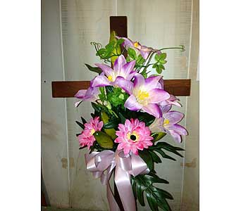 Mahogany Cross-PLG in Staten Island NY, Grapevine Garden and Florist
