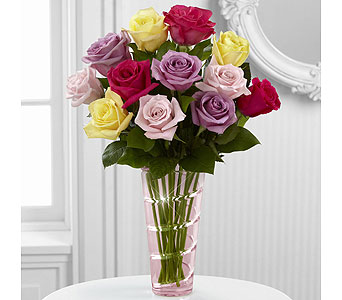 The Mixed Rose Bouquet in Washington IN, Myers Flower Shop