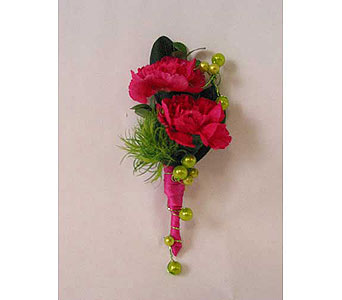 Boutonniere-mini carnation in Bloomington IL, Forget Me Not Flowers