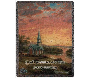 Thomas Kinkade Sunrise Chapel Afghan in Dayton OH, Furst The Florist & Greenhouses
