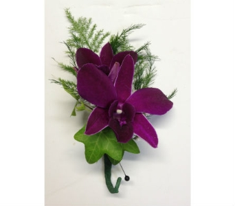 Purple Orchid Boutonniere  in Wellington FL, Wellington Florist