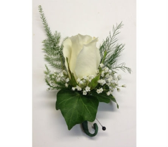 White Rose Boutonniere in Wellington FL, Wellington Florist