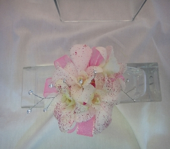 Pink Bling Corsage in Greenville SC, Expressions Unlimited