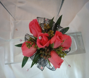Red Rose Corsage in Greenville SC, Expressions Unlimited