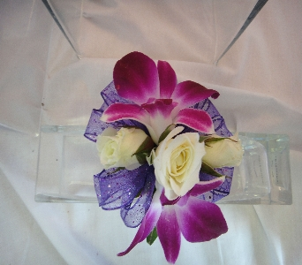 Orchid with Rose in Greenville SC, Expressions Unlimited