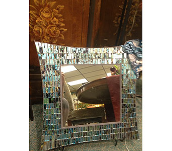 Turquoise Tiled Mirror in New Castle PA, Butz Flowers & Gifts