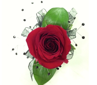 Rose corsages for prom delivery silver spring maryland bell single rose corsage in silver spring md bell flowers inc mightylinksfo