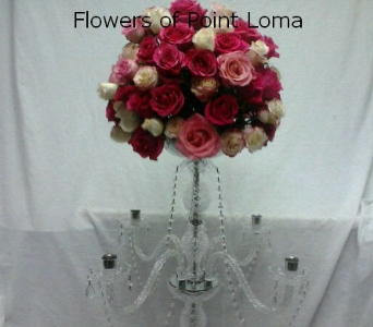 Crystal Candelabra in San Diego CA, Flowers Of Point Loma