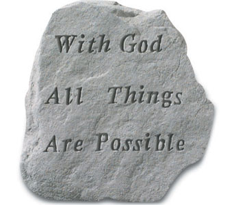 With God All Things Possible in Monroe MI, Monroe Florist