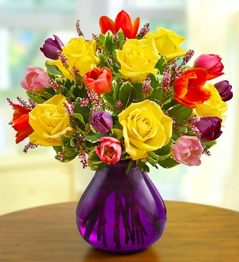 SPRING ROSES AND TULIPS BOUQUET in Vienna VA, Vienna Florist & Gifts