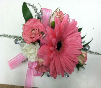 Coral Corsage in Depew NY, Elaine's Flower Shoppe