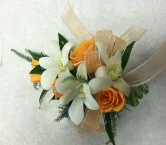 Orchid corsage in Depew NY, Elaine's Flower Shoppe