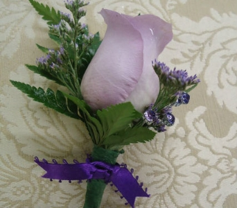 Lovely Lavender Boutonniere in Saratoga Springs NY, Dehn's Flowers & Greenhouses, Inc