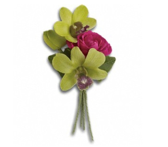Orchid Celebration Boutonniere in Trumbull CT, P.J.'s Garden Exchange Flower & Gift Shoppe