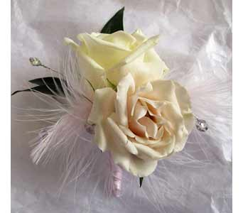 Soft Champagne Boutonniere in Amherst NY, The Trillium's Courtyard Florist