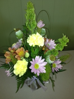 Spring Arrangement in Bubble Bowl in Mooresville NC, All Occasions Florist & Boutique