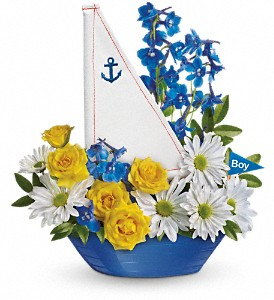 Ahoy It's A Boy Bouquet by Teleflora in Murrells Inlet SC, Callas in the Inlet