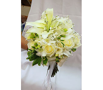 White Elegance Bouquet in Hales Corners WI, Barb's Green House Florist