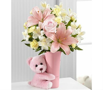 The Baby Girl Big Hug® Bouquet by FTD® in San Clemente CA, Beach City Florist