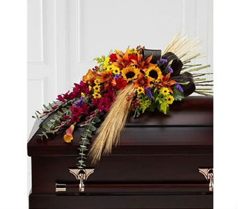 The FTD® Glorious Garden™ Casket Spray in San Clemente CA, Beach City Florist