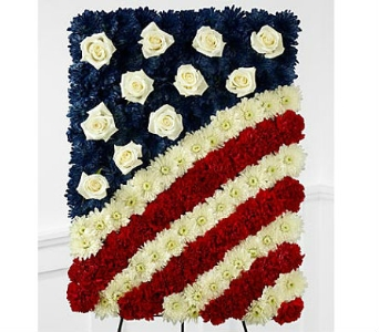 The FTD® Glory Be™ Flag Tribute in San Clemente CA, Beach City Florist