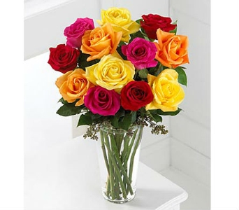 The FTD® Bright Spark Rose Bouquet™ in San Clemente CA, Beach City Florist