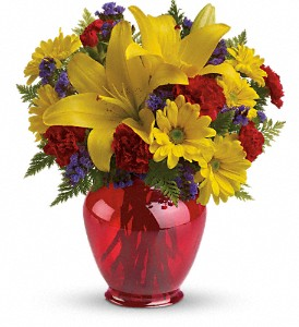 Teleflora's Let's Celebrate Bouquet in Oklahoma City OK, Array of Flowers & Gifts
