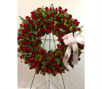 Large Red Rose Wreath in Somerset NJ, Flower Station