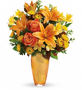 Teleflora's Amber Elegance Bouquet in Wake Forest NC, Wake Forest Florist