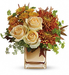 Teleflora's Autumn Romance Bouquet in Reno NV, Bumblebee Blooms Flower Boutique