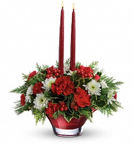 Teleflora's Evergreen Elegance Centerpiece in Northumberland PA, Graceful Blossoms