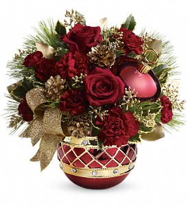 Teleflora's Jeweled Ornament Bouquet in San Jose CA, Almaden Valley Florist