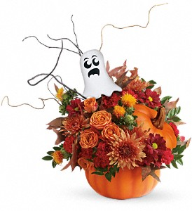 Teleflora's Spooky Surprise Bouquet in Charleston WV, Food Among The Flowers