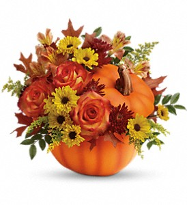 Teleflora's Warm Fall Wishes Bouquet in Cocoa FL, A Basket Of Love Florist