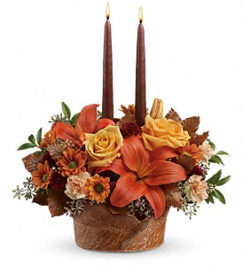 Teleflora's Wrapped In Autumn Centerpiece in Commerce Twp. MI, Bella Rose Flower Market