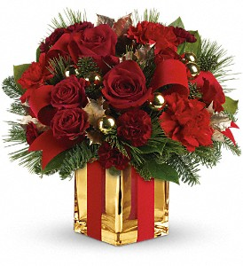 All Wrapped Up Bouquet by Teleflora in DeKalb IL, Glidden Campus Florist & Greenhouse