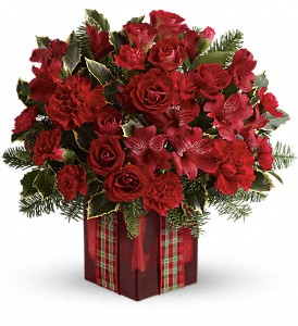 Season's Surprise Bouquet by Teleflora in Peachtree City GA, Rona's Flowers And Gifts