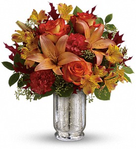 Teleflora's Fall Blush Bouquet in Rochester NY, Red Rose Florist & Gift Shop