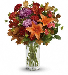 Teleflora's Fall Brights Bouquet in Little Rock AR, The Empty Vase