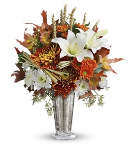 Teleflora's Harvest Splendor Bouquet in Boerne TX, An Empty Vase