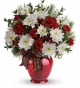 Teleflora's Joyful Gesture Bouquet in Redwood City CA, A Bed of Flowers