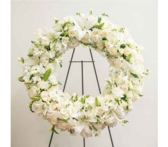 White Floral Wreath in Houston TX, The Empty Vase of Houston