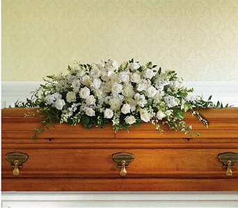 Purity and Peace Casket Spray in Charleston SC, Tiger Lily Florist Inc.