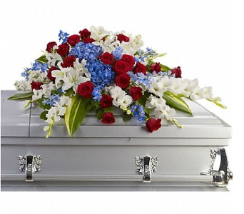 Distinguished Service Casket Spray in Charleston SC, Tiger Lily Florist Inc.