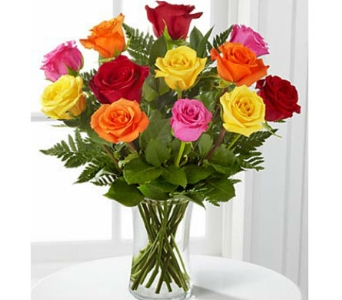 Mixed Colored Roses in Largo FL, Rose Garden Florist