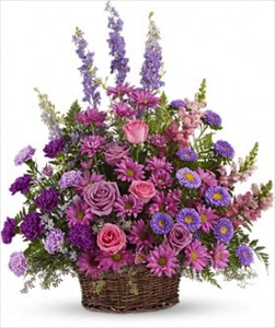 Gracious Lavender Basket in Clearwater FL, Hassell Florist