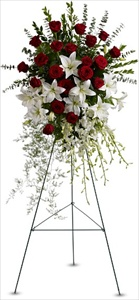 Lily & Rose Tribute Spray in Clearwater FL, Hassell Florist