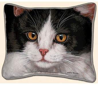 Black & White Cat Pillow<br>$28.99 in Westerville&nbsp;OH, Reno's Floral